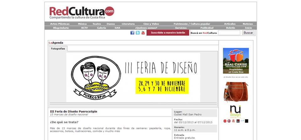 PuercoSpin en Red Cultura. Costa Rica