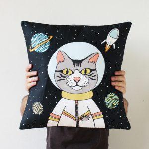 Almohadón Gato Astronauta - PuercoSpin