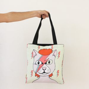 Bolso Gato David Bowie - PuercoSpin