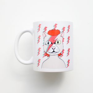 Taza Gato David Bowie - PuercoSpin