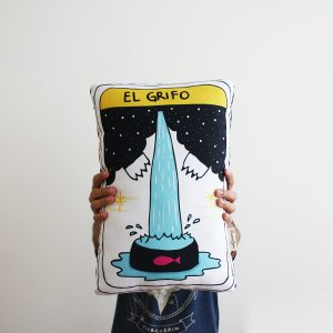 Cojín Carta del Tarot: El grifo / Tarot's Card Cushion