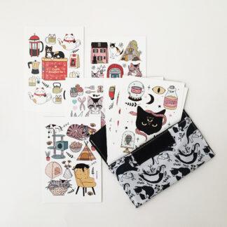 Set de Tarjetas Postales Gatos